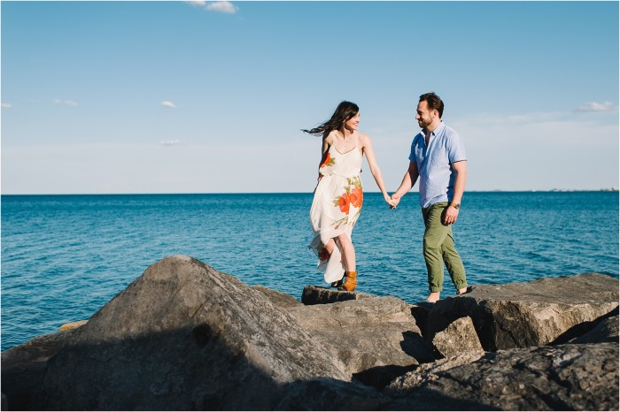 Morgan & Chris | Chicago Lake Michigan Engagement Photography | Lake Michigan