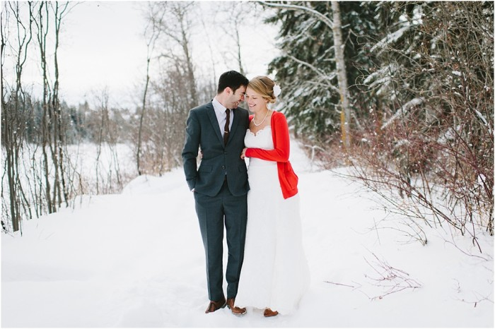 Elly & Aaron | A Calgary Winter DIY Wedding
