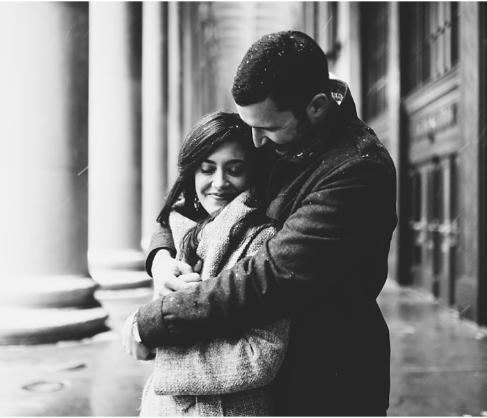 Julie & Chris | Snowy Chicago Engagement Session